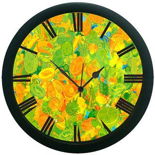 meSleep Lemon Print Wall Clock (With Glass)