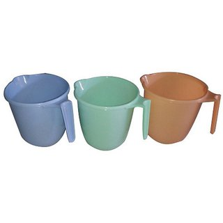 SGD Plastic Mug With Handle 3 pcs multi colour