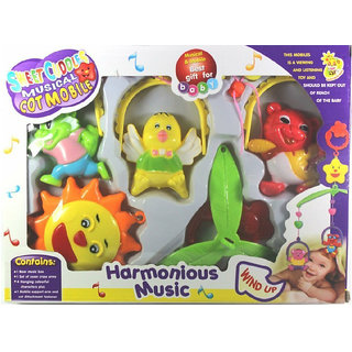 OH BABY Smiles Creation Attractive Shaped and Bright Colours Rattle Set Toys for Kids - Pack Of 5 SE-ET-139