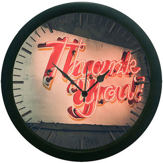 meSleep Thank You 3D Wall Clock (With Glass)