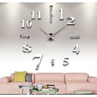 DIY Wall Clock 3D Sticker Home Office Decor 3D Wall Clock (Covering Area100100cm) - T4215S