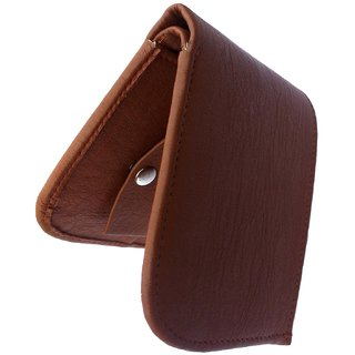 Mens Top Grain Bi Fold Leather Wallet (Tan Curve)