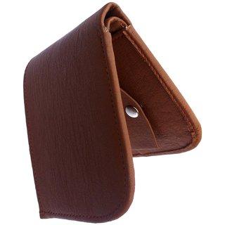 Top Grain Leather Bi Fold Wallet For Men (Tan Curve)