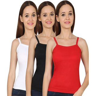 Pack of 3 Multicolor Camisole For Women's (Color May Differ)