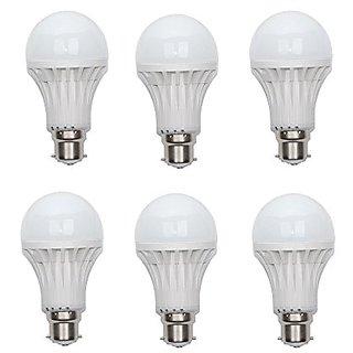PNP 9W Bright Led Bulb (Pack of 6)