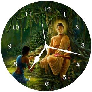 3d green buddha wall clock