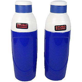 Cello Puro Insulated Plastic Blue Water Bottle Set 900ml Set of 2 unbreakable