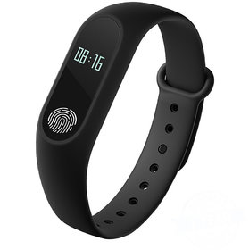 All Leading Smartphones Compatible Bluetooth M2 Fitness Band with Heart Rate sensor Smart Band and Fitness Tracker Black