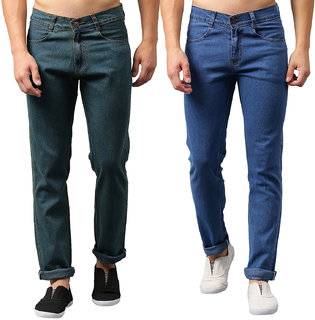 Denzen Men's Slim Fit Combo of 2 Stretchable Jeans