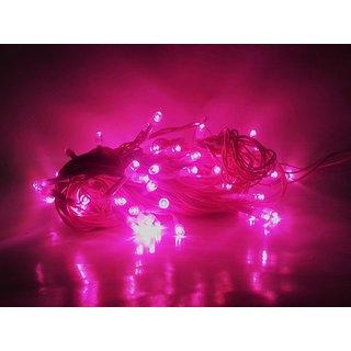 Finest Pink Standard 30 Feet Rice Ladi/String Light For Diwali,Xmas,Eid,Gurupurab,Birthday Party Decoration