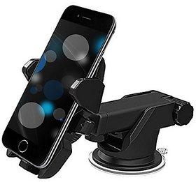 techdeal Car Mobile Holder for Dashboard, Windshield  (Black)