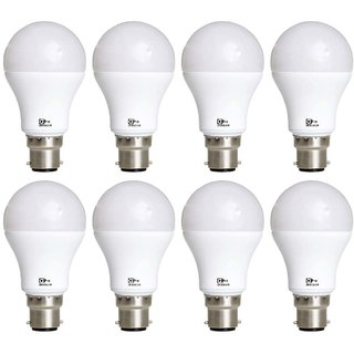 Alpha Pro B22 12 Watt LED Bulb Pack Of 8 (Warranty 6 Months)