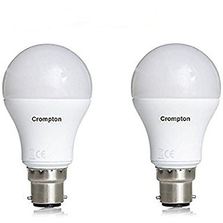 Crompton B22 18-Watt LED Bulb (Pack of 2 Cool Day Light)