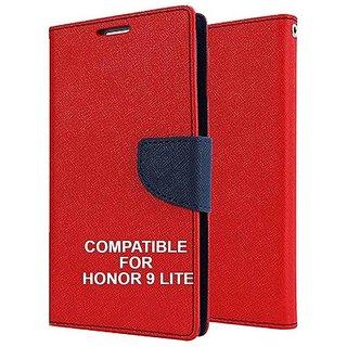 091b84b543c763 Buy BRAND FUSON Mercury Goospery Fancy Diary Wallet Flip Cover for Honor 9  Lite Premium Quality - Red Online - Get 57% Off