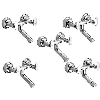 Oleanna Metroo Brass Non Telephonic Wall Mixer (Disc Fitting | Quarter Turn | Form Flow) Chrome - Pack Of 5 Nos