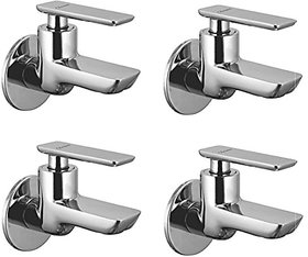 Oleanna Golf Brass Bib Tap With Wall Flange (Disc Fitting | Quarter Turn | Form Flow) Chrome - Pack Of 4 Nos