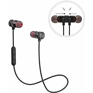 Digibuff Wireless Sports Bluetooth Magnetic Earphone for All Smartphone(With Mic)