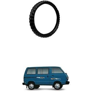 KunjZone Highly Quality Premium Finger Grip Steering Cover Black For Maruti Suzuki Omni