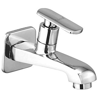 Oleanna Speed Brass Long Nose Bib Cock With Wall Flange Long Body Tap (Disc Fitting  Quarter Turn  Form Flow) Chrome