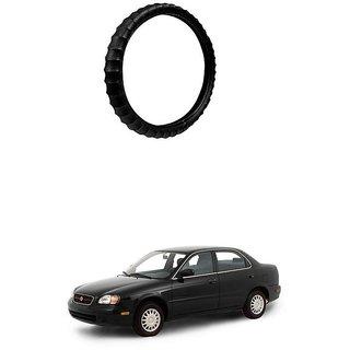 KunjZone Highly Quality Premium Finger Grip Steering Cover Black For Maruti Suzuki Esteem
