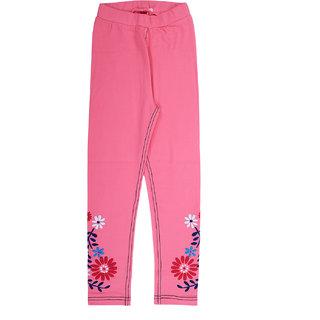 Ventra Girls Floral Jeggings Pink