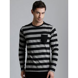 Dillinger Men's Black Round Neck T-Shirt