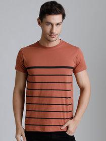 Dillinger Men's Brown Round Neck T-Shirt