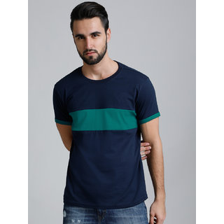 Dillinger Men's Blue Round Neck T-Shirt