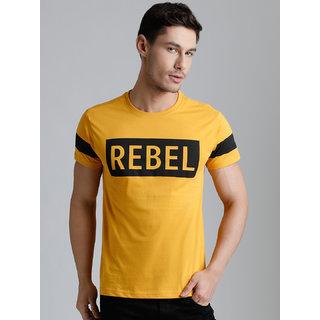 Dillinger Men's Yellow Round Neck T-Shirt