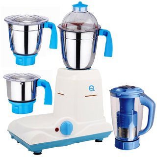 SilentPowerSunmeet Baba 600 Watts 4 Jar Mixer Grinder (Blue)