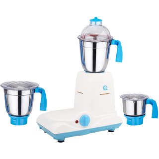 SilentPowerSunmeet Baba 600 Watts 3 Jar Mixer Grinder (Blue)