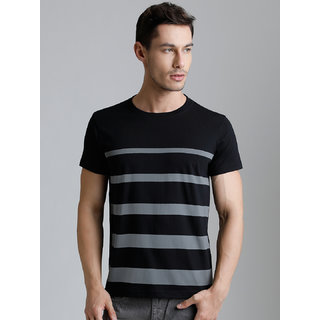 Dillinger Men's Black Round Neck T-Shirt