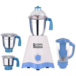 35e3ef8f02b Buy SilentPowerSunmeet Star 600 Watts 4 Jar Mixer Grinder (White ...