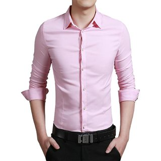 US Pepper Pink Casual Cotton Shirt (Pack of 1)