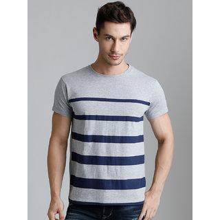 Dillinger Men's Grey Round Neck T-Shirt