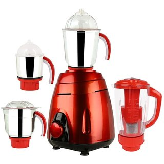 Sunmeet V-Guard Metallic 600 Watts 4 Jar Mixer Grinder (Red)