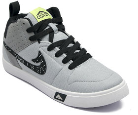 Asian Skypy-31 Grey Black Canvas Shoes For Men