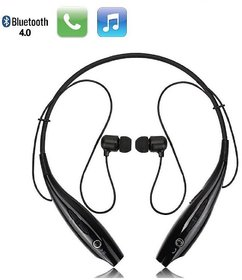 Premium HBS 730 Wireless in the Ear Bluetooth Neckband Earphone with Mic (Multicolor)
