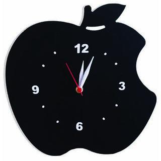 Balaji times MDF Black Analog Round Apple Wall Clocks (DECOR9911)