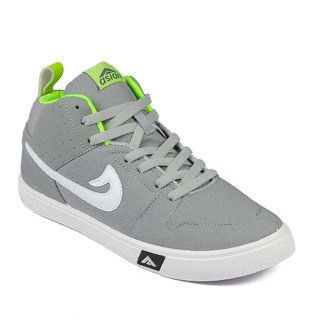 Asian Skypy-31 Grey Green Canvas Shoes For Men