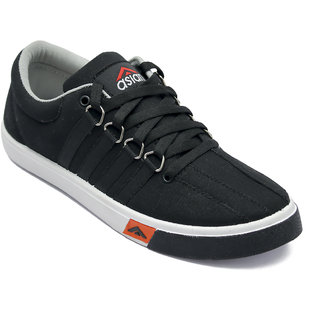 Asian Skypy-162 Grey Black Canvas Shoes For Men