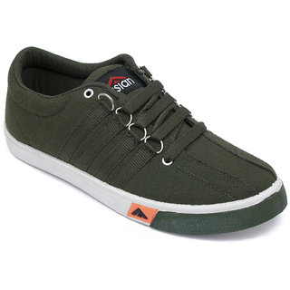 Asian Skypy-162 Mehandi Canvas Shoes For Men