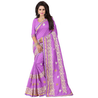Ethinista Pink Colored Cotton Saree With Matching Blouse