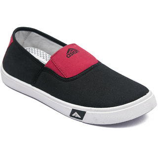 Asian Skypy-51 Black Red Canvas Shoes For Men