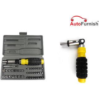 KunjZone 41 PCs Tool Kit Foldable Screw Driver Set