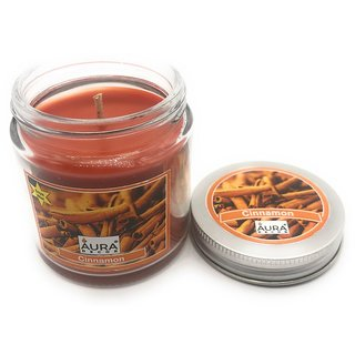 AuraDecor Soy Wax Jar Candle Burning Time 50 hours Fragrance Cinnamon