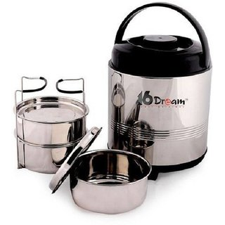 Lavi Stainless Steel 3 Container 16 Dream Office Lunch Box 300 ml Each Container