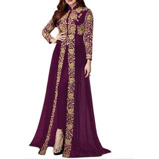 Salwar Soul Shamita Shetty Purple Heavy Designer Suit