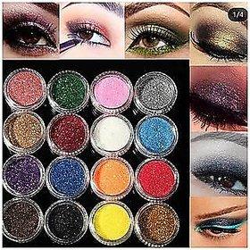 Multi Color Glitter Eye Nail Pigment HOT NEW 12 PCS. DIFFERENT COLOURS