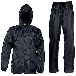 Autonext WATERPROOF (BLACK) RAIN SUIT WITH HOOD CARRY BAG FOR BIKERS